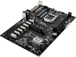 ASRock H110 Pro BTC+ LGA 1151 Intel H110 SATA 6Gb/s USB 3.0 ATX Intel for Crypto