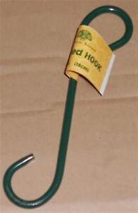 2 x 18cm Green Scrolled Metal Heavy Duty Garden Planter Hook Hanging Basket