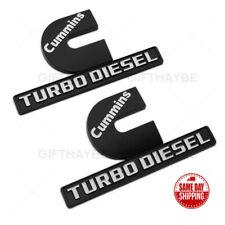 3D DODGE RAM 3500 CUMMINS TURBO DIESEL Mopar Fender Emblem Nameplate OEM Chrome