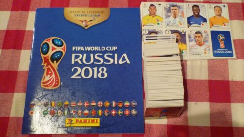 SET COMPLET FOOT WORLD CUP RUSSIA 2018 UPDATE PANINI ALBUM VIDE SOUPLE