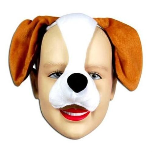 New Dog Puppy Face Mask Animal Fancy Dress Costume With Sound Effect FX P1302