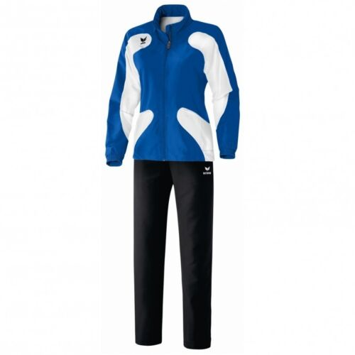 weiß Erima Scorer Line Präsentationsanzug Trainingsanzug Damen new royal blau