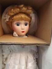 Susan Danbury Mint porcelain Bride Doll, boxed with cert and stand