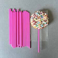 "6"" Plastic Pink Cake Pop Sticks, Pink Lollipop Sticks, Pink Sucker Sticks"