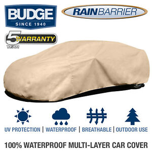 Budge-Rain-Barrier-Car-Cover-Fits-Sedans-up-to-19-039-Long-Waterproof-Breathable