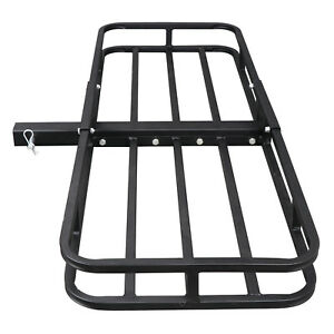 """Hitch Mount Cargo 53""""x19"""" Carrier Basket Rack Hauler Luggage 2"""" Hitch Receiver"""