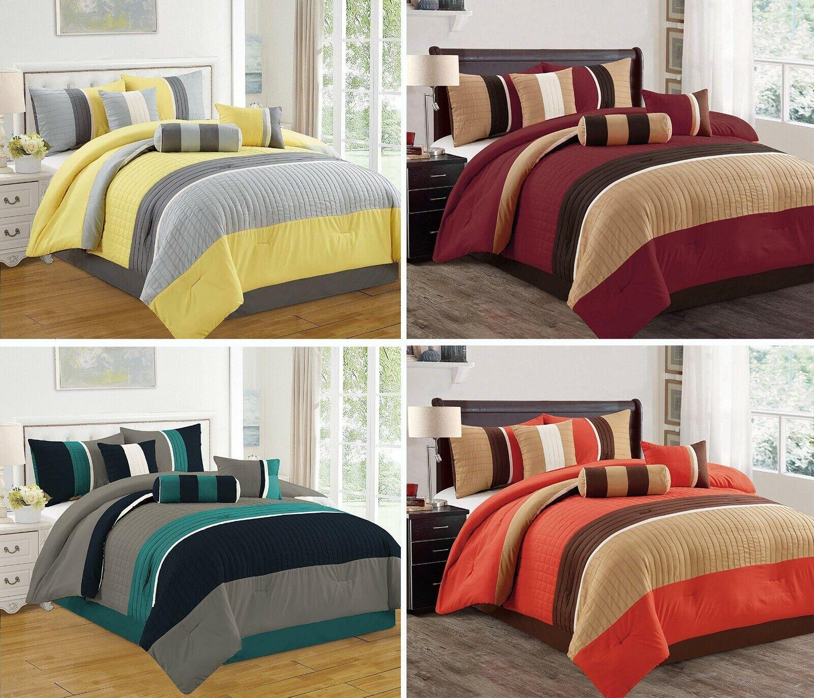 7 Piece Bed in Bag Microfiber Luxury Comforter Set (California King King Queen)