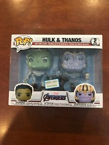 Details about Funko Pop Avengers End Game Hulk And Thanos 2 Pack Barnes And  Noble HTF
