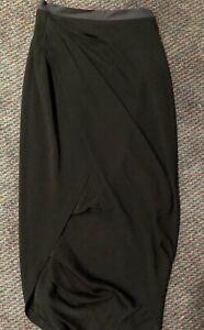 WILLOW-Black-Wrap-Style-Midi-Skirt-Sz-8-Rrp-350-Designer-Wardrobe-Clearout
