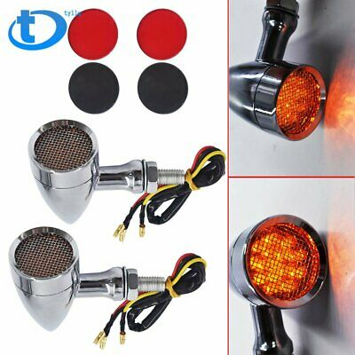 Motorcycle LED Turn Signal Lights Chrome For Harley Sportster XL 1200 883 Iron
