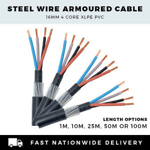 Persevering Armoured Cable 16mm Swa Cable 4 Core Swa Cable Per Meter,10m Electrical Equipment & Supplies 25m,50m Or 100m To Ensure A Like-New Appearance Indefinably