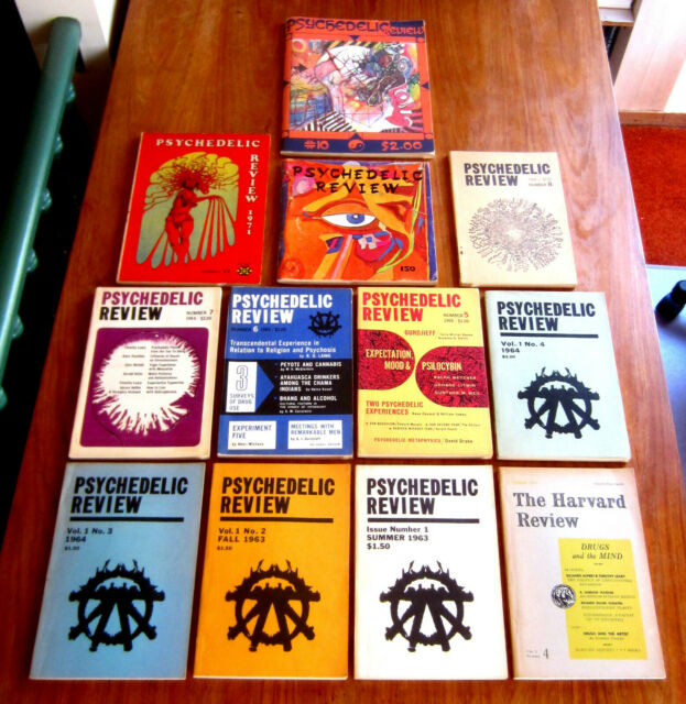 12 Books PSYCHEDELIC REVIEW 1 - 11 HARVARD REVIEW LSD TIMOTHY LEARY CANNABIS DMT