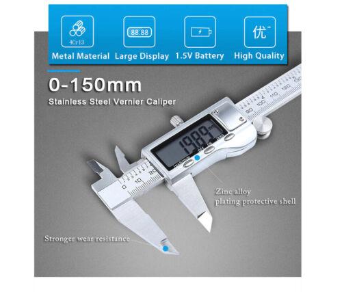 0-150mm Vernier Caliper Stainless Steel//Plastic LCD Digital Caliper