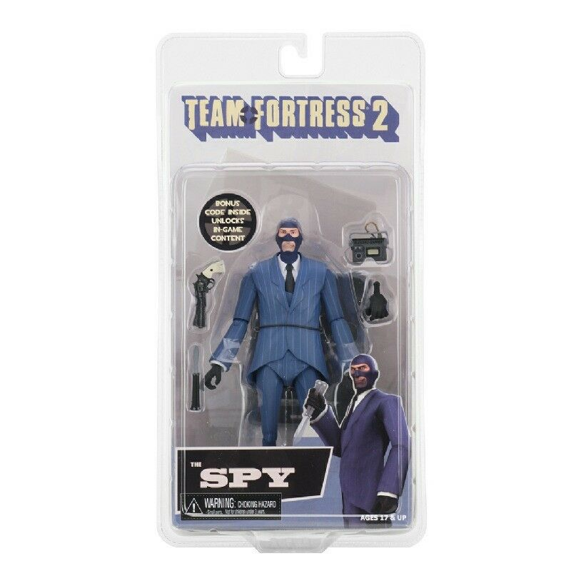 Neca - Team Fortress 2 - 7  Scale Action Figure - Series 3.5 blue Spy