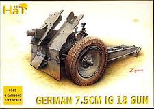 HaT Models 1/72 GERMAN World War I 7.5cm IG I8 Field Gun with Crew Set of 4