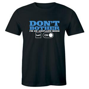 Don't Bother Im On Airplane Mode Funny Humor Joke Antisocial Mens V-neck T-shirt