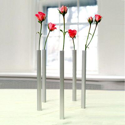 Home Gifts Original Design Vases x 5 Magnetic Set Art Flowers Decor Aluminum.
