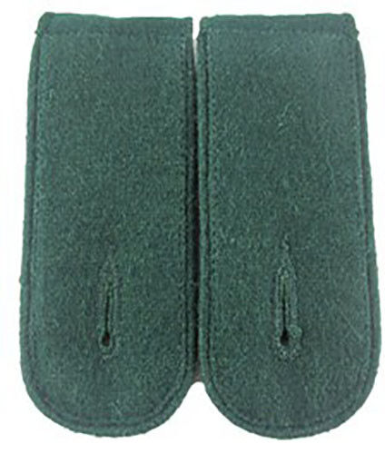 Panzer Grenadier EM Shoulder Boards Bottle Green WW2 Repro Grass green Piped