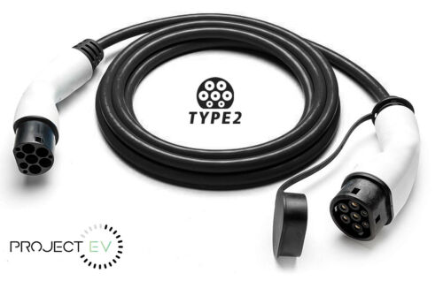 Type 2 to Type 2 EV Charging Cable 32A Charger 7kw 5M Cable with Full Warranty