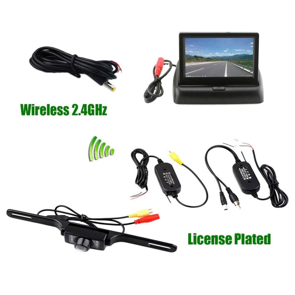 Car Backup Camera Rear View System Night Vision + Wireless 4.3\