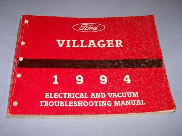 1994 Mercury Villager Electrical  U0026 Vacuum Troubleshooting