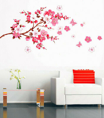 DIY TREE FLOWER Art Vinyl Removable Decal Mural Home Room KID Decor