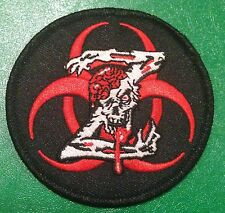"ZOMBIE BIOHAZARD SYMBOL 3"" iron-on PATCH  Glow-in-the-Dark B.O.B. Bag Gun case"