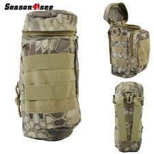 Tactical Molle Zipper Kettle Water Bottle Holder Pouch Bag Top Open Bag HLD Camo