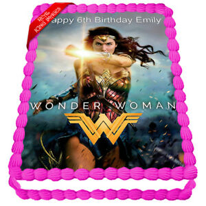 Wonder-Woman-Edible-Icing-Image-Cake-Topper-Personalised-Party-Decoration