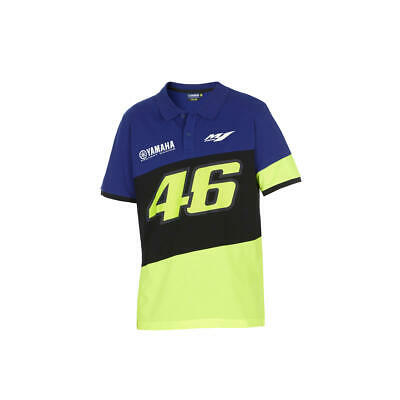 Valentino Rossi Polo Camisa VR46 MotoGP M1 Yamaha Racing Official 2020