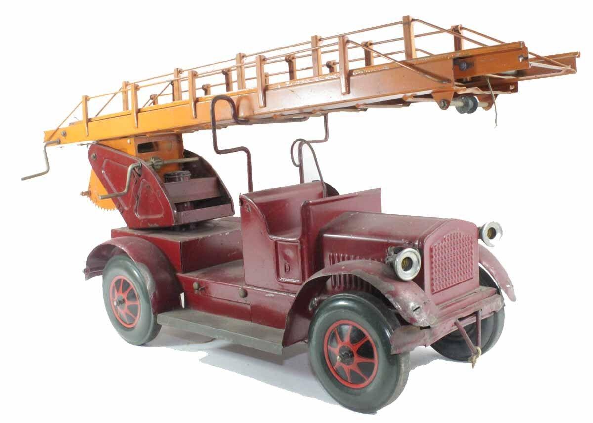 Karl Bub - Camión de Bomberos 1930   Juguete Antiguo