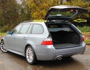 Pair-of-genuine-BMW-serie-5-E61-Maletero-Trasero-Gas-Puntal-Soporte-Izquierda-Derecha