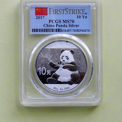 First Strike PCGS MS69 2018 China Silver Panda 30 g 10 Yuan