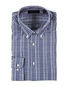 Tommy-Hilfiger-L-S-Dress-Shirt-Size-XL-17-36-37-Slim-Fit-Blue-Check-NWT