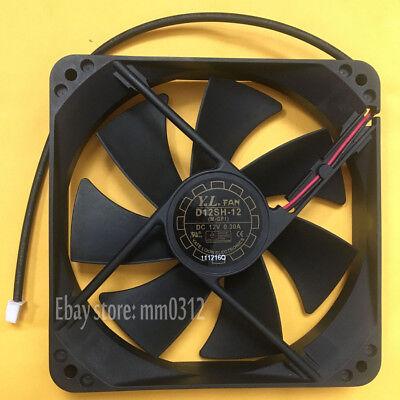 Yate Loon D12SH-12 12V 0.30A 120*120*25mm 2Pin Cooling Fan