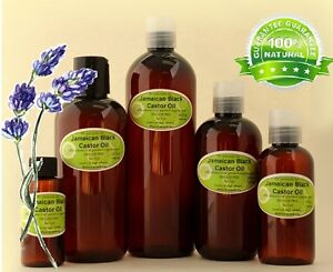 Lavender Jamaican Black Castor Oil Natural Pure Organic Hair Care by Dr.Adorable