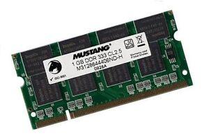 1GB-RAM-DDR-333-Mhz-PowerBook-G4-6-4-6-8-von-2004-SODIMM-Speicher-fur-Apple