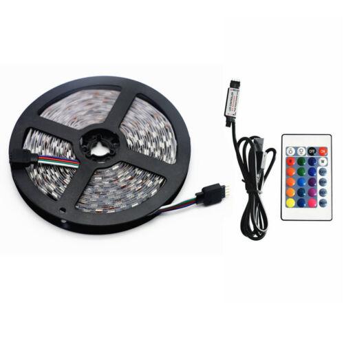 5050 RGB LED STRIP LIGHTS COLOR CHANGING TAPE TV BLACK KITCHEN LIGHTING USB UK