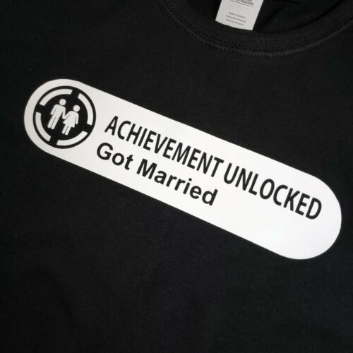 XBOX Achievement Unlocked Got Married Ladies Tshirt T-Shirt Tee Top