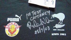 meilleures baskets 85e92 89784 Details about Men's Rare Ruben Wiki Autographed Puma Rugby League New  Zealand T Shirt XL Black