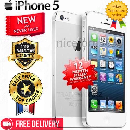BRAND NEW SEALED UNLOCKED APPLE iPhone 5 4G MOBILE WHITE BLACK SSS+++