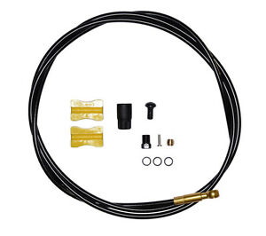 Shimano-SM-BH90-Brake-Hose-for-Saint-M820-Rear-1700mm-Black-Gold