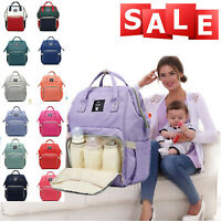 Large Capacity Mummy Maternity Diaper Bottle Bag Baby Nappy Changing Backpack