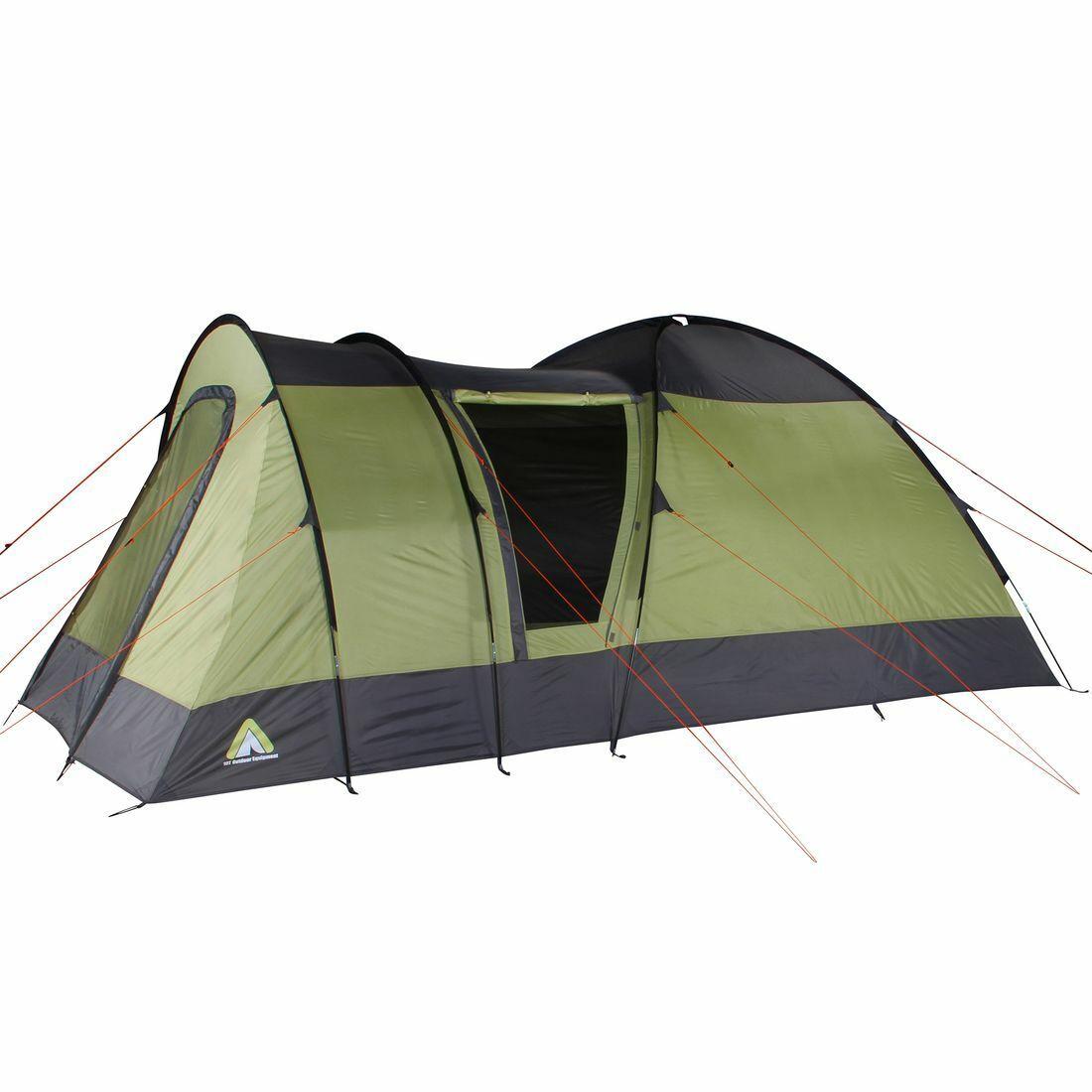 10T Kopenhagen 5 - 5 pers. trekking tent, waterproof with 200 cm height, green