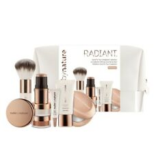 Nude By Nature RADIANT N4 Silky Beige, 7 pcs make up set + Brush + Bag NEW