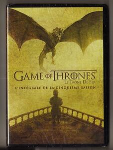 COFFRET DVD SERIE : GAME OF THRONES SAISON 5 INTEGRALE - LE TRONE DE FER
