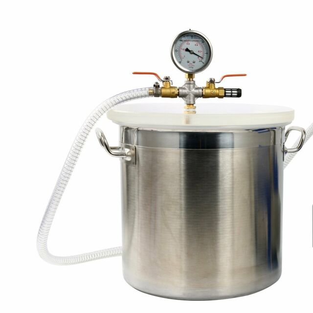 5 Gallon Stainless Steel Vacuum Chamber Kit Degass Urethanes Silicones Epoxies