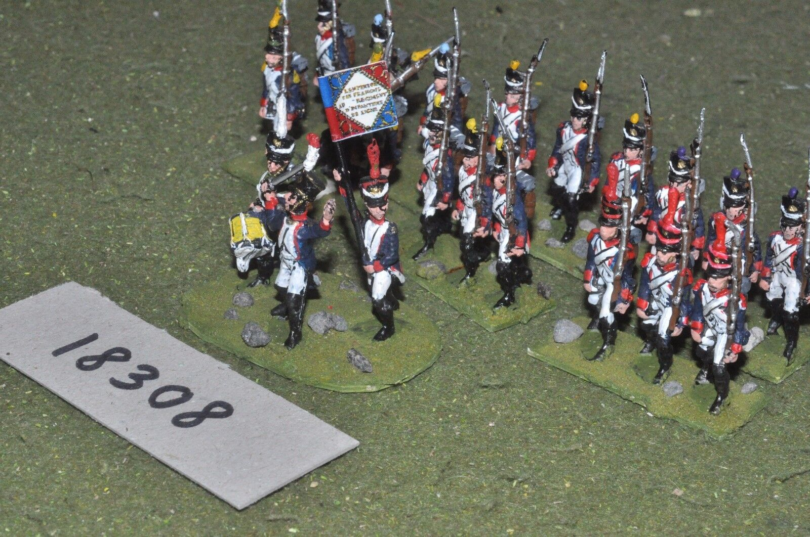 25mm napoleonic   french - infantry 21 figs - inf (18308)