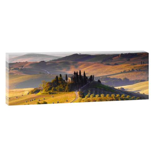 Toskana Bild Leinwand Poster Modern Design Panorama  120 cm* 40 cm 703