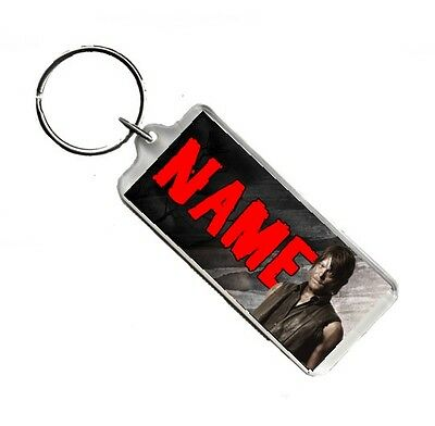 Personalised Name, The Walking Dead, Daryl, Number Plate Style Rectangle Keyring